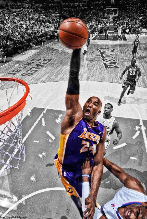 Kobe Bryant Poster Dunk