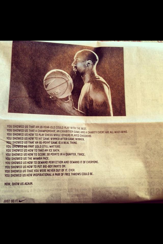 Kobe Bryant - Nike - Show Us Again