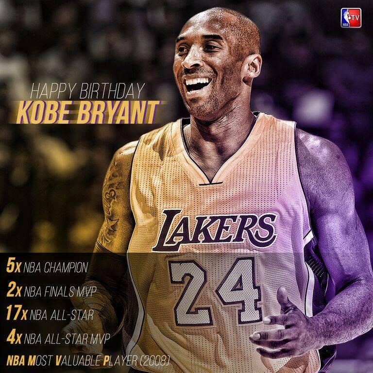 Happy Birthday Kobe Bryant